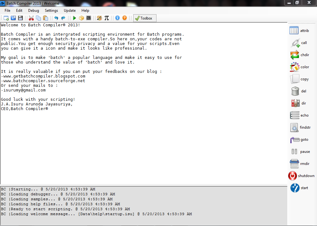Batch Compiler Batch Compiler 2013