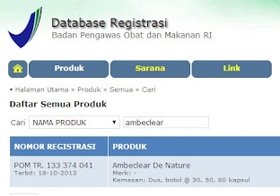 No. Registrasi BPOM