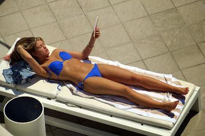 English: Amy Willerton blue bikini Australia