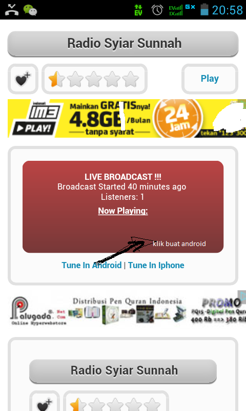 Mendengarkan Radio Stream Swarabbkmt Caster Fm Pada