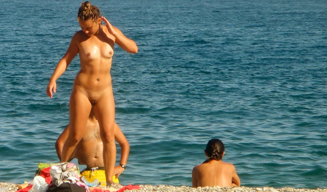 Beach shower spain voyeur web can