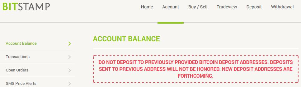 Bitstamp Warning Hot Wallet Server Issues