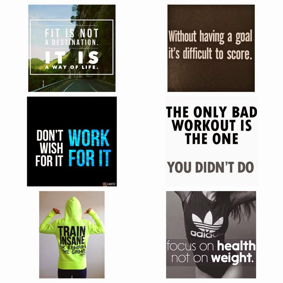 fitness motivation quotes collage exercise health