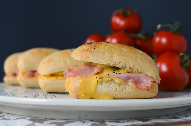 Hot Ham and Cheese Sandwiches with Onion Butter - ButterYum