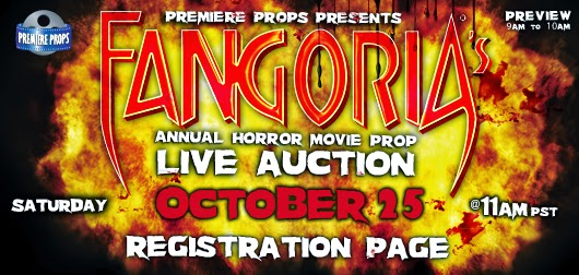 Fangoria movie props live auction at Premiere Props