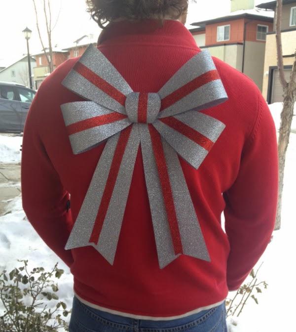 christmas bow, glitter