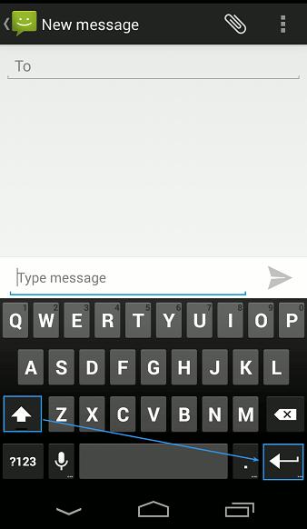 Cara Tampilkan Tombol Enter SMS Android Kitkat
