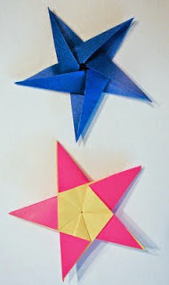 Coldplay origami folded paper star