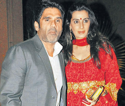 Sunil Shetty and Mana Shetty