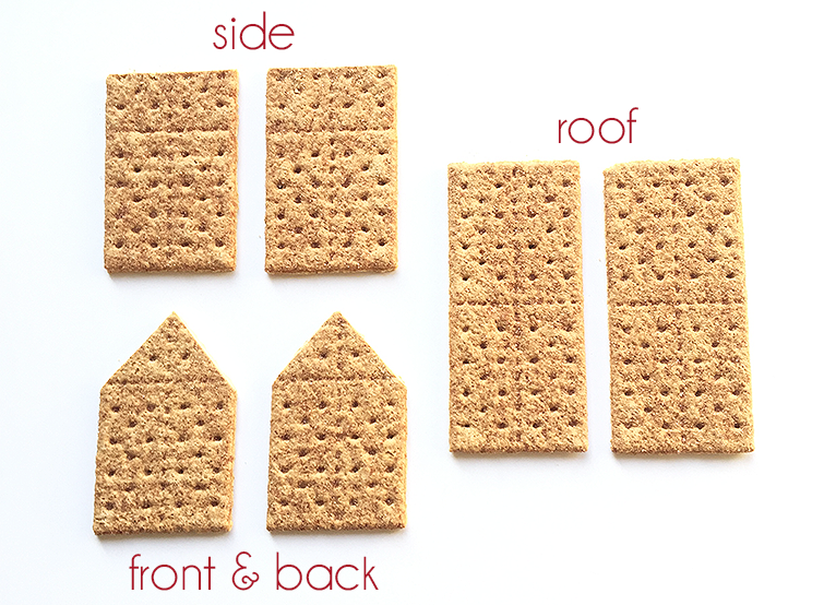 DIY Christmas graham cracker house tutorial