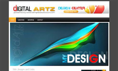 Digital Artz Blogger Template. art showcase blogger template