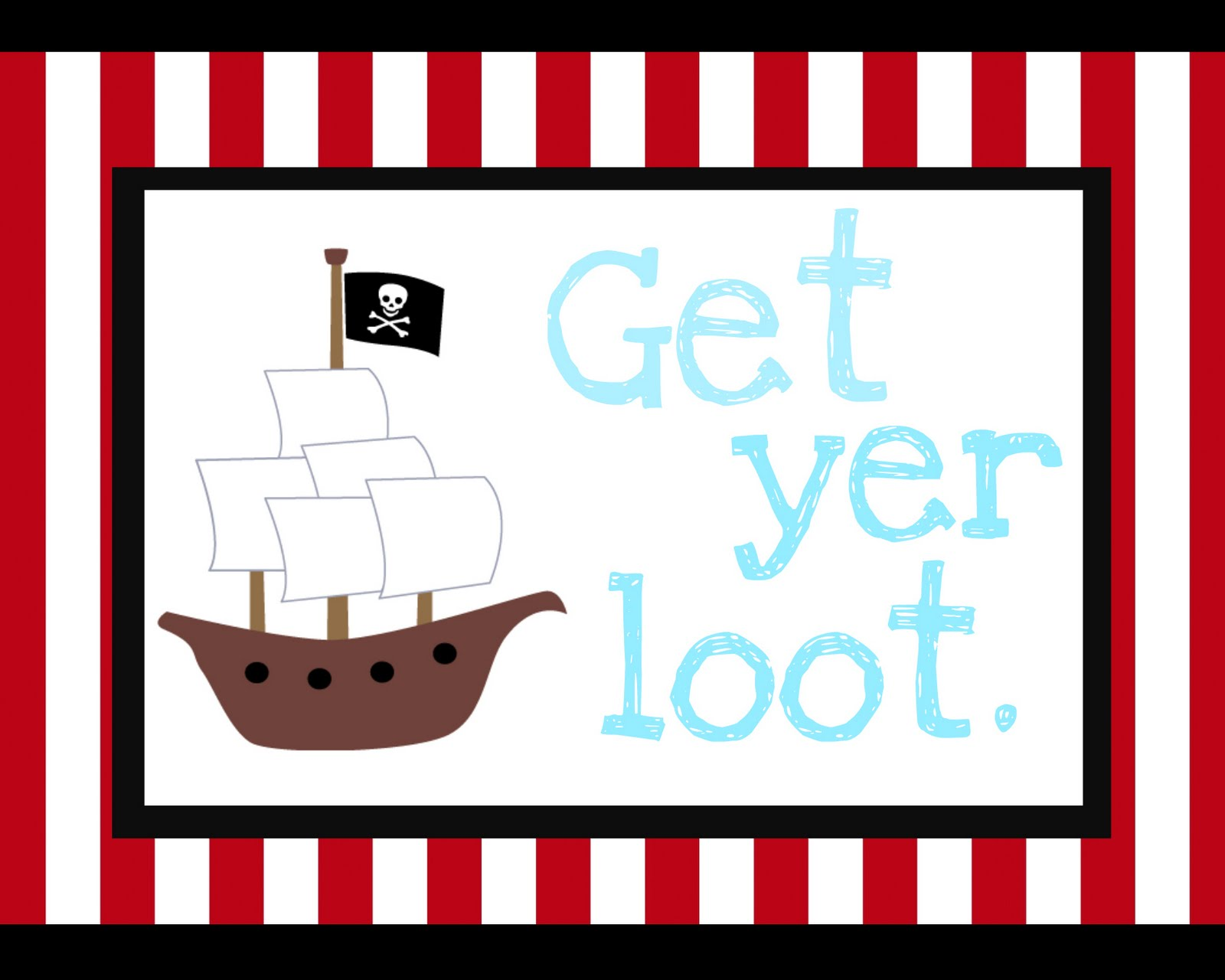 Punchy image pertaining to pirate party printable