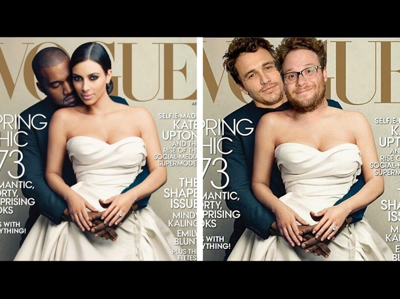 James Franco, Seth Rogen Kim Kardashian's Vogue cover