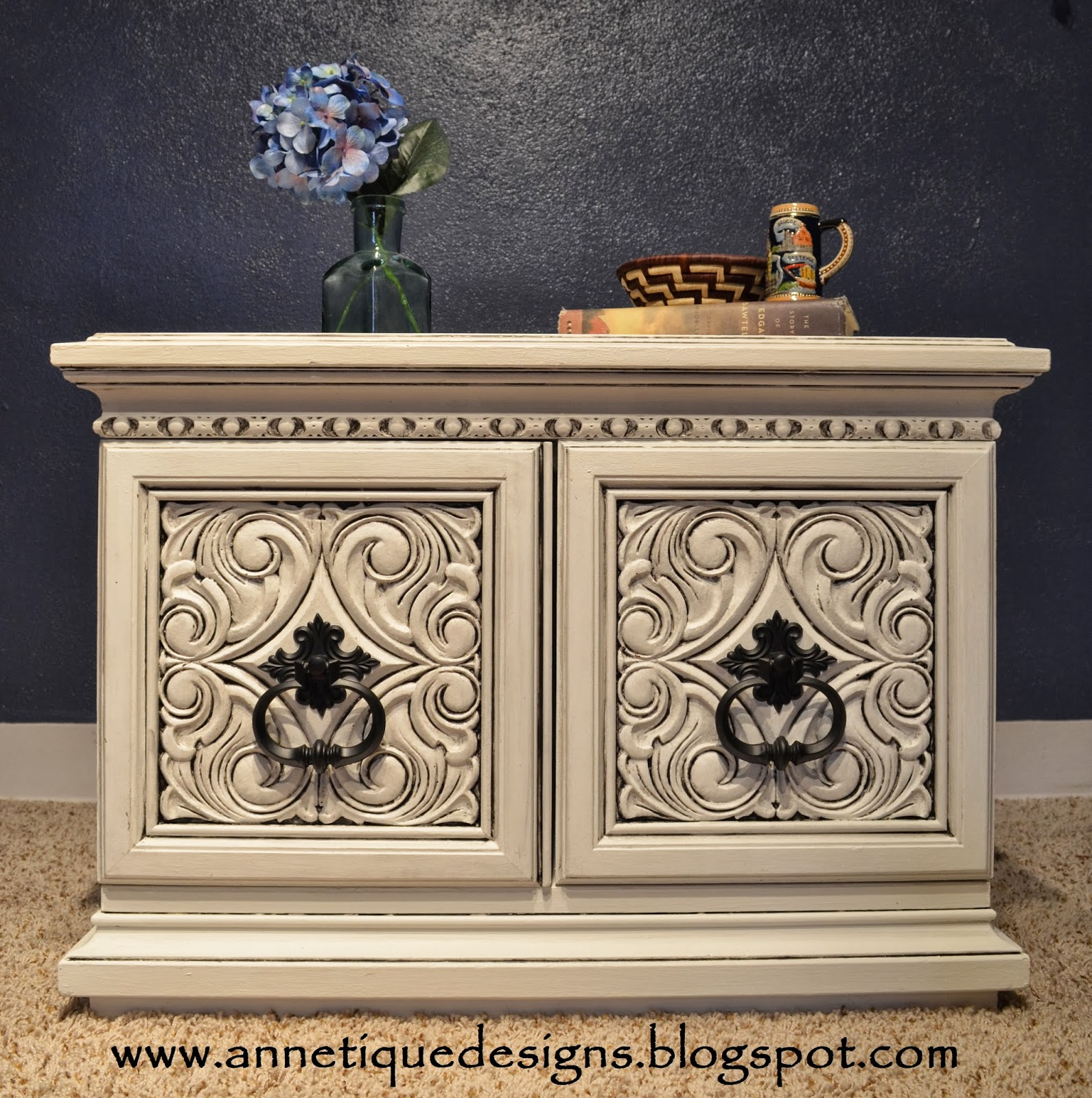 How To Paint A Black Dresser White