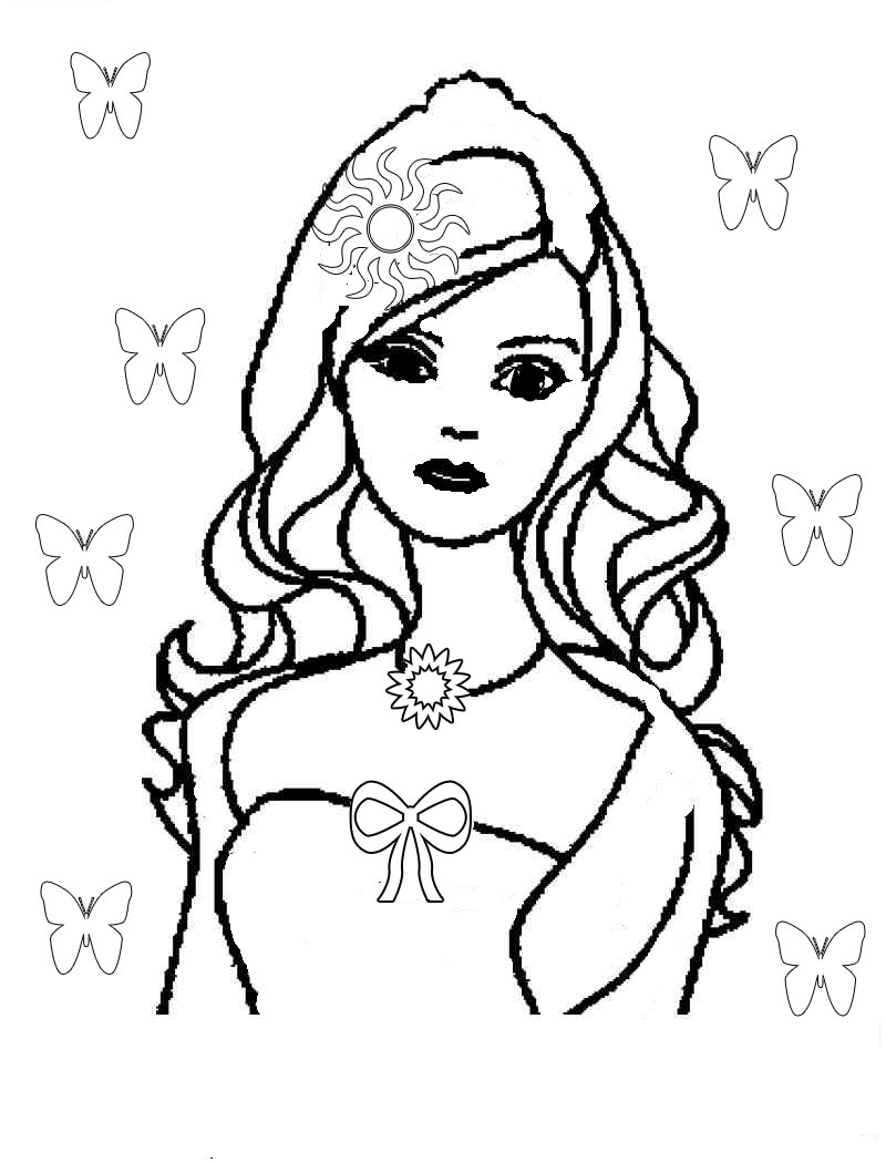 free barbie halloween coloring pages - photo#37