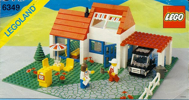 Steve 39 s lego blog the classic lego house for Classic house 1988