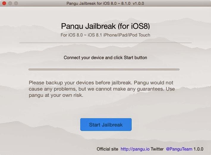 How to jailbreak iOS 8 using Pangu on Mac and Install Cydia App