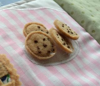 mini felt chocolate chip cookies