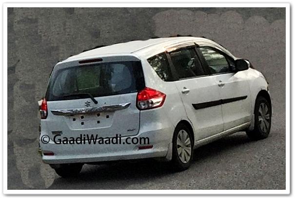 Tampak Belakang Suzuki Ertiga Facelift 2015