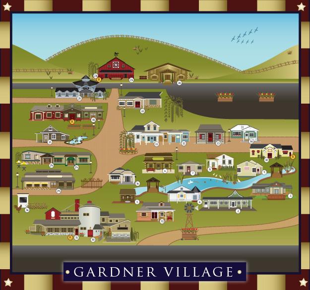 The Frosted Gardner: Gardner Village