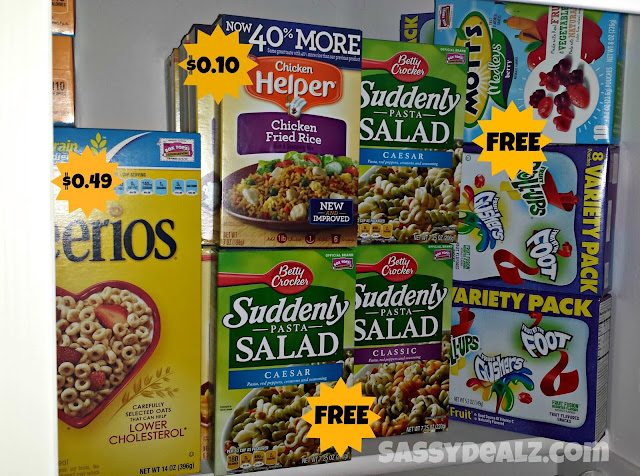 couponing stockpile in the closet