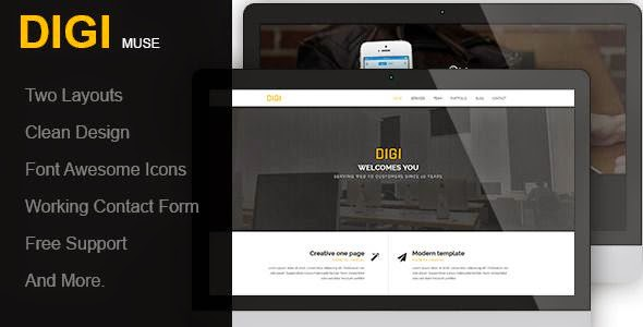 Digi - One Page Muse Template