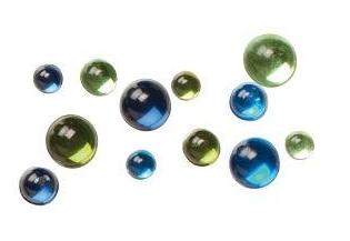 Green & Blue Epoxy Bubbles