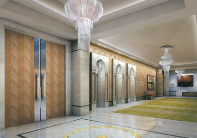 ANTILLA LOBBY MUKESH AMBANI BILLION DOLLAR HOUSE