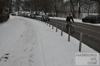 """Winterdienst"" Veloroute 4 - Krugkoppelbrücke"