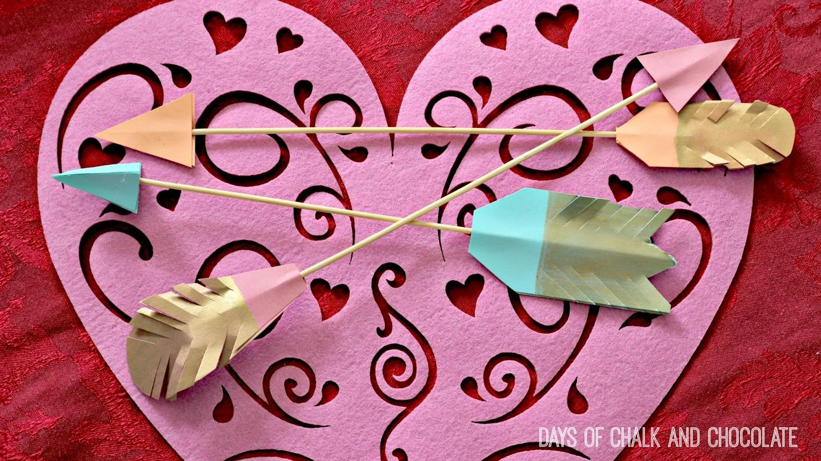 cupid arrow hearts