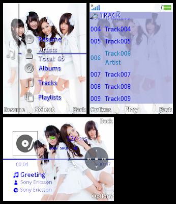 日本女團AKB48 SonyEricsson手機主題for Elm/Hazel/Yari/W20﹝240x320﹞