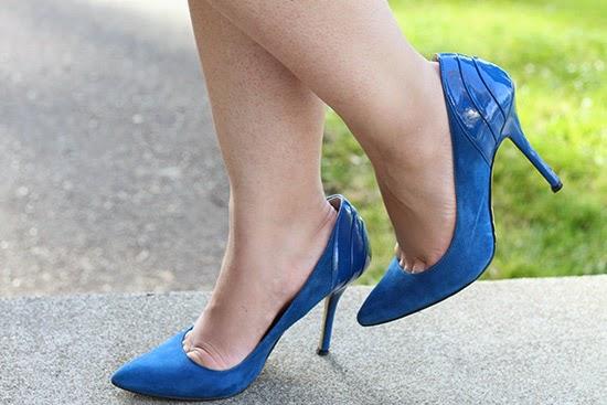 Blue Angiolini Heels