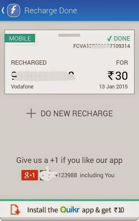 Install Quikr App and Earn Rs 10 in Freecharge Credits