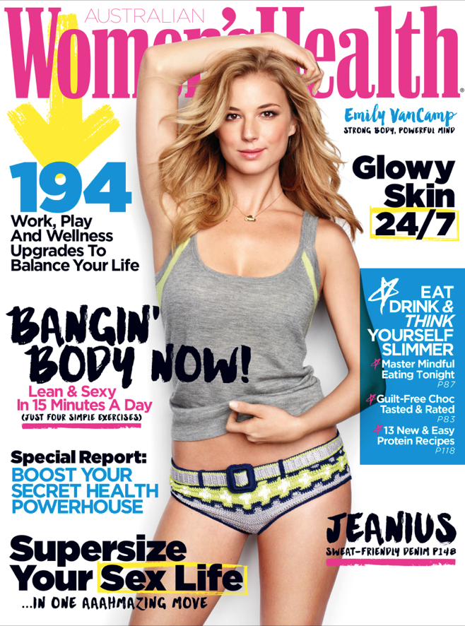 Actress @ Emily VanCamp - Women's Health Australia May 2015