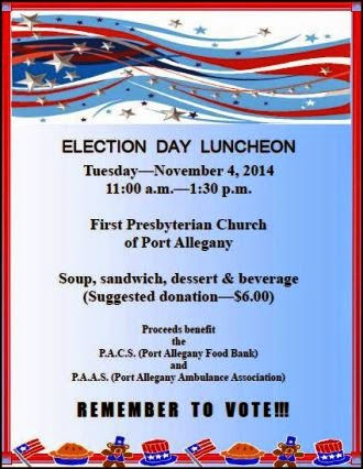 11-4 Election Day Dinner