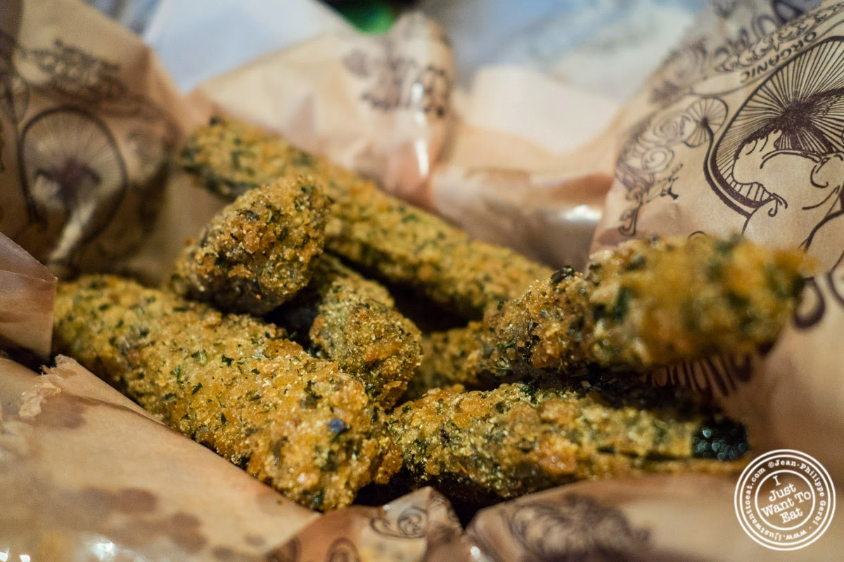 image of parmesan and panko crust zucchini sticks at Bareburger in New York, NY