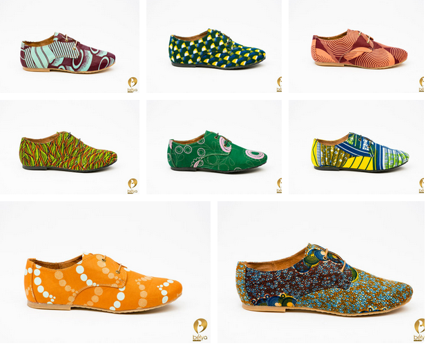 Nigerian made ankara shoes for men