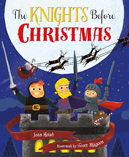 http://www.amazon.com/Knights-Before-Christmas-Joan-Holub/dp/0805099328/ref=sr_1_1?ie=UTF8&qid=1442844698&sr=8-1&keywords=the+knights+before+christmas