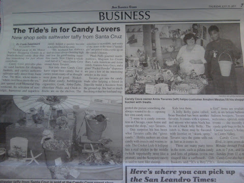 Candy Cove make the local news!!!