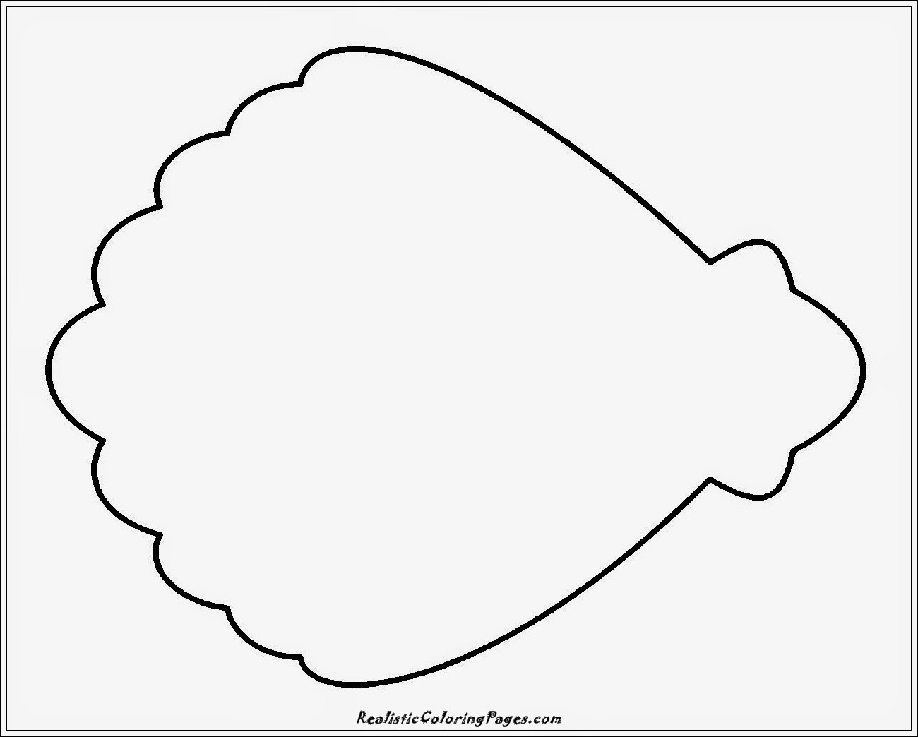 simple shell coloring pages
