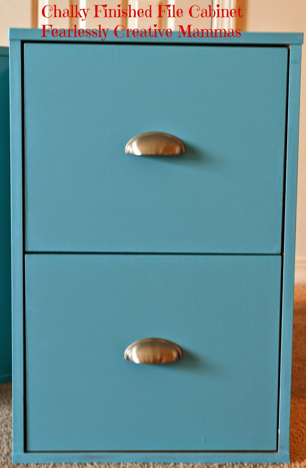 Chalky Paint Finish File Cabinet