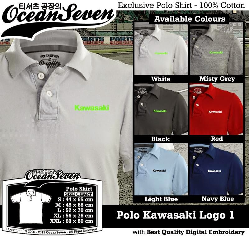 Kaos Polo Kawasaki Logo 1