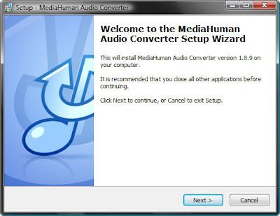 установка бесплатного конвертора аудио файлов Free Audio Converter от MediaHuman