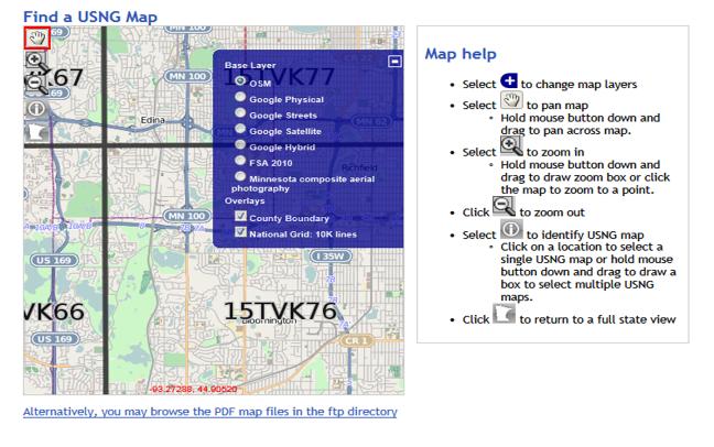 EPC Updates ~ ~ ~: U.S. National Grid Maps for Minnesota