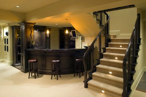Cool indoor stair lighting ideas: LED stair lights