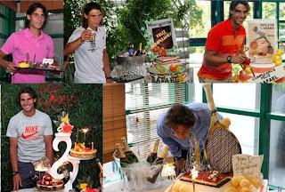 Rafa cumple años el 3 de junio y lo celebra cada año en París