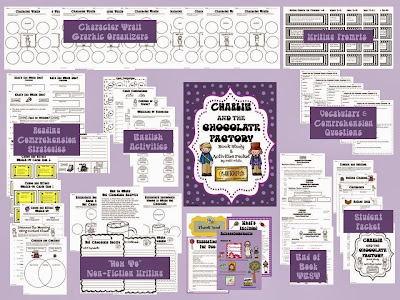 http://www.teacherspayteachers.com/Product/Charlie-and-the-Chocolate-Factory-Book-Study-Activity-Packet-492587