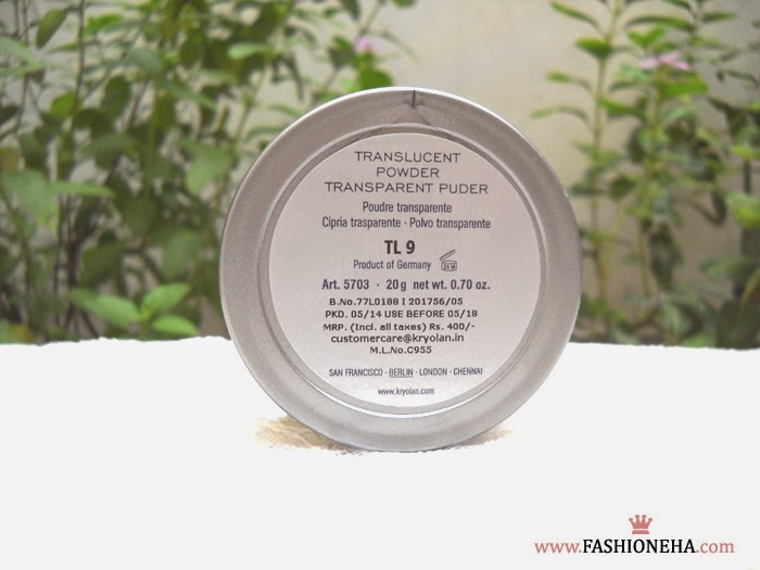 kryolan+translucent+face+powder+review+price+india