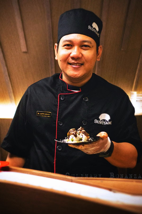 Chef Abadi Lutfi, born in Surabaya with >20 years of experience in Japanese restaurants (Culinary Bonanza)