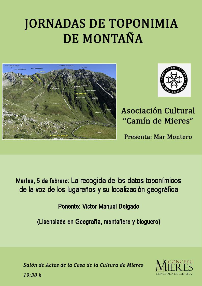 Jornadas de Toponimia de Montaña (Camín de Mieres) (Febrero 2019)